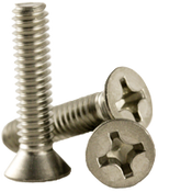 "#6-32x7/16"" F/T Phillips Flat Head Machine Screws, Coarse 18-8 A-2 Stainless Steel (1,000/Pkg.)"