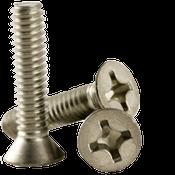 "#6-32x1"" F/T Phillips Flat Head Machine Screws, Coarse 18-8 A-2 Stainless Steel (1,000/Pkg.)"