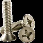 "#8-32x1/2"" F/T Phillips Flat Head Machine Screws, Coarse 18-8 A-2 Stainless Steel (1,000/Pkg.)"