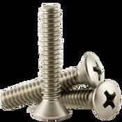"1/4""-20x2-1/2"" F/T Phillips Oval Head Machine Screws, Coarse 18-8 A-2 Stainless Steel (100/Pkg.)"