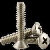 "1/4""-20x2-3/4"" F/T Phillips Oval Head Machine Screws, Coarse 18-8 A-2 Stainless Steel (100/Pkg.)"