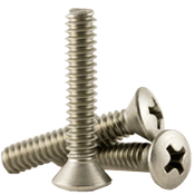 "1/4""-20x4"" F/T Phillips Oval Head Machine Screws, Coarse 18-8 A-2 Stainless Steel (100/Pkg.)"