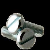 """#10-24x7/16"""" F/T Machine Screw Pan Head Slotted Zinc Cr+3 (8,000/Bulk Pkg.)"""