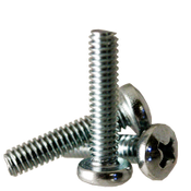 """1/4""""-20x2"""" F/T Machine Screw Pan Head Phillips Zinc Cr+3 (100/Pkg.)"""
