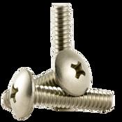 "#8-32x1/2"" F/T Phillips Truss Head Machine Screws, Coarse 18-8 A-2 Stainless Steel (1,000/Pkg.)"