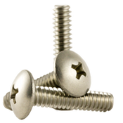 "#10-24x1"" F/T Phillips Truss Head Machine Screws, Coarse 18-8 A-2 Stainless Steel (500/Pkg.)"