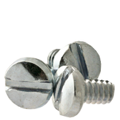 "#6-32x1/2"" F/T Machine Screw Binder Undercut Slotted Coarse Zinc Cr+3 (100/Pkg.)"