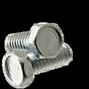 "#10-24x1"" F/T Machine Screw Indented Hex Head Unslotted Coarse Zinc Cr+3 (100/Pkg.)"