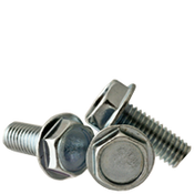 "#10-24x3/4"" F/T Machine Screw Indented Hex Head Washer Coarse Zinc Cr+3 (5,000/Bulk Pkg.)"