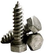 "3/8""-7x7-1/2 Hex Lag Screw Low Carbon Hot Dip Galvanized (10/Pkg.)"