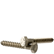 "1/4""-10x2-1/2"" Hex Lag Screws Coarse 18-8 Stainless Steel (100/Pkg.)"