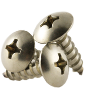"""#12x5/8"""" F/T Self-Tapping Screws Phillips Truss Head Type A 18-8 A2 Stainless Steel (500/Pkg.)"""