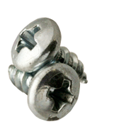 "#8-18x3/8"" Phillips Pan Head Tapping Screws Type AB Zinc Cr+3 (100/Pkg.)"