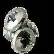 "#8-18x3/8"" Phillips Round Head Tapping Screws Type AB Zinc Cr+3 (6,000/Bulk Pkg.)"