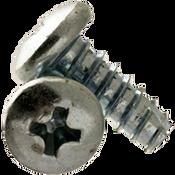 "#8-18x3/4"" F/T Indented Hex Washer Head Slotted Thread Cutting Screws Type 25 Zinc Cr+3 (10,000/Bulk Pkg.)"