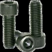 "#8-32x1/2"" Fully Threaded Socket Head Cap Screws Coarse Alloy Thermal Black Oxide (100/Pkg.)"
