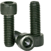 "#12-24x3/8"" Fully Threaded Socket Head Cap Screws Coarse Alloy Thermal Black Oxide (100/Pkg.)"