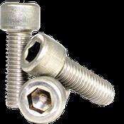 """#0-80x3/8"""" Fully Threaded Socket Head Cap Screws Fine 18-8 Stainless (100/Pkg.)"""