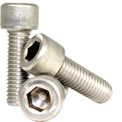 "#1-72x3/8"" Fully Threaded Socket Head Cap Screws Fine 18-8 Stainless (100/Pkg.)"
