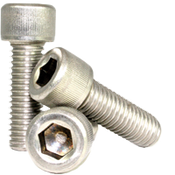 "#1-64x3/16"" Socket Head Cap Screws Coarse 18-8 Stainless (100/Pkg.)"