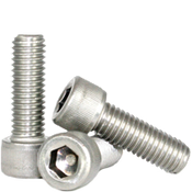 M5-0.80x10 MM Fully Threaded Socket Head Cap Screws Coarse 18-8 Stainless (100/Pkg.)