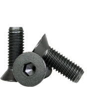 "1/4""-20x1"" Fully Threaded Flat Socket Caps Coarse Alloy Thermal Black Oxide (100/Pkg.)"