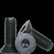 "1/4""-28x3"" Partially Threaded Flat Socket Caps Fine Alloy Thermal Black Oxide (100/Pkg.)"
