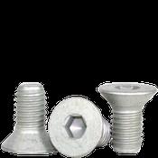 """#10-32x1/2"""" Fully Threaded Flat Socket Cap Fine Alloy Mechanical Zinc (100/Pkg.)"""