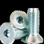 """1/4""""-28x1"""" Fully Threaded Flat Socket Cap Fine Alloy Zinc-Bake Cr+3 (100/Pkg.)"""