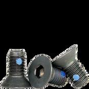 """#4-40x1/4"""" (FT) Flat Socket Caps Coarse Alloy w/ Nylon-Pellet Black Oxide (100/Pkg.)"""