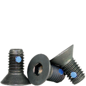 """1/4""""-20x1"""" (FT) Flat Socket Caps Coarse Alloy w/ Nylon-Pellet Black Oxide (100/Pkg.)"""