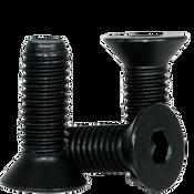 M6-1.00x55 MM (PT) Flat Socket Caps 12.9 Coarse Alloy DIN 7991 Thermal Black Oxide (100/Pkg.)