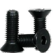 M8-1.25x75 MM (PT) Flat Socket Caps 12.9 Coarse Alloy DIN 7991 Thermal Black Oxide (100/Pkg.)