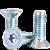 M8-1.25x45 MM Partially Threaded Flat Socket Cap 12.9 Coarse Alloy Zinc (100/Pkg.)