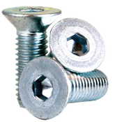 M6-1.00x28 MM (FT) Flat Socket Cap 12.9 Coarse Alloy Zinc-Bake CR+3 (100/Pkg.)