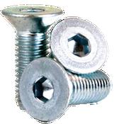 M8-1.25x40 MM (FT) Flat Socket Cap 12.9 Coarse Alloy Zinc-Bake CR+3 (100/Pkg.)