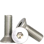 "#10-24x3/8"" Fully Threaded Flat Socket Caps Coarse 18-8 Stainless (100/Pkg.)"
