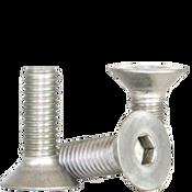 M6-1.00x45 MM (PT) Flat Socket Caps Coarse 18-8 Stainless (100/Pkg.)