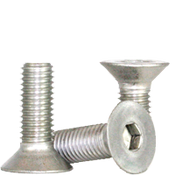 M8-1.25x50 MM Partially Threaded Flat Socket Caps Coarse 18-8 Stainless (100/Pkg.)