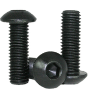 "#0-80x1/2"" Fully Threaded Button Socket Caps Fine Alloy Thermal Black Oxide (100/Pkg.)"