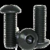 """#8-36x3/8"""" (FT) Button Socket Caps Fine Alloy Thermal Black Oxide (100/Pkg.)"""