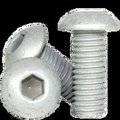 """1/4""""-20x5/8"""" (FT) Button Socket Cap Coarse Alloy Mechanical Zinc (100/Pkg.)"""