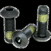 """#10-32x1"""" (FT) Button Socket Caps Fine Alloy w/ Nylon-Patch Thermal Black Oxide (100/Pkg.)"""