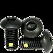 """1/4""""-28x1/2"""" Fully Threaded Button Socket Caps Fine Alloy w/ Nylon-Pellet Thermal Black Oxide (100/Pkg.)"""