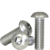 """#10-24x3/8"""" Fully Threaded Button Socket Caps Coarse 18-8 Stainless (100/Pkg.)"""
