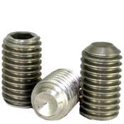 "#8-32x1/2"" Socket Set Screws Cup Point Coarse Ni-Cu Alloy (100/Pkg.)"