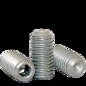 """1/4""""-28x1"""" Socket Set Screw Cup Point Fine Alloy Zinc-Bake Cr+3 (100/Pkg.)"""