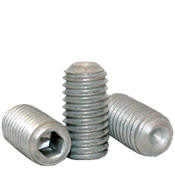 """5/16""""-24x7/16"""" Socket Set Screw Cup Point Fine Alloy Zinc-Bake Cr+3 (100/Pkg.)"""