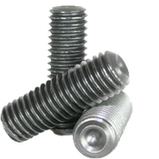 M5-0.80x15 MM Socket Set Screws Cup Point 45H Coarse ISO 4029 / DIN 916 Thermal Black Oxide (100/Pkg.)