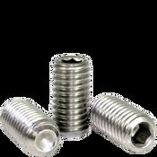 "#8-32x3/8"" Socket Set Screws Cup Point Coarse 18-8 Stainless (100/Pkg.)"